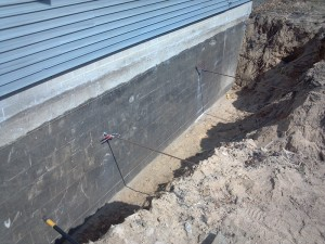 Basement Wall Shoring Repair